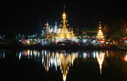 Tempio di Jong Khum Jong Klang, Mae Hong Son Thailand Immagini Stock