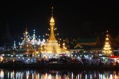 Tempio di Jong Khum Jong Klang, Mae Hong Son Thailand Immagine Stock Libera da Diritti