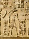 Tempio di Kôm Ombo, Egitto: Sobek - il dio dalla testa coccodrillo della t Immagini Stock