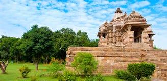 Tempio di Kandariya Mahadeva, dedicato a Shiva, tempie occidentali o immagine stock libera da diritti