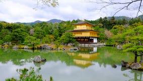 Tempio di Kinkakuchi - il tempio dorato Immagini Stock