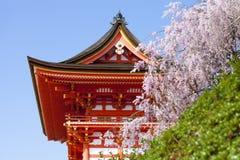 Tempio di Kiyomizu, Giappone, Immagine Stock Libera da Diritti