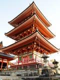 Tempio di Kiyomizu a Kyoto nel Giappone Fotografia Stock Libera da Diritti