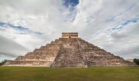Tempio di Kukulcan a Chichen Itza, Yucatan, Messico Fotografia Stock