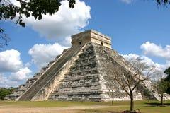 Tempio di Kukulkan Chichen Itza Messico Fotografia Stock Libera da Diritti