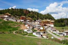 Tempio di Langmusi del tibetano Fotografia Stock Libera da Diritti