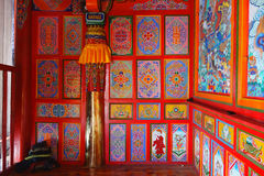 Tempio di Langmusi del tibetano dentro Fotografie Stock Libere da Diritti