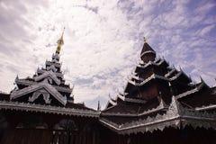Tempio di legno Fotografia Stock
