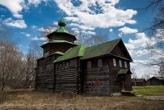 Tempio di legno antico Immagini Stock Libere da Diritti