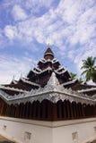 Tempio di legno quadrato Fotografie Stock