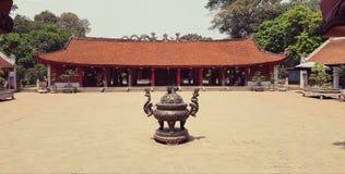 Tempio di letteratura a Hanoi Fotografia Stock Libera da Diritti