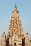 Tempio di Mahabodhi, fico delle indie orientali Gaya 2 Fotografie Stock