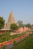 Tempio di Mahabodhi, gaya di fico delle indie orientali, India Il sito dove Gautam Buddha Fotografie Stock