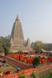 Tempio di Mahabodhi, gaya di fico delle indie orientali, India Il sito dove Gautam Buddha Immagine Stock Libera da Diritti