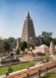 Tempio di Mahabodhi - patrimonio mondiale dell'Unesco e sito di pellegrinaggio Fotografia Stock Libera da Diritti