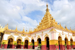 Tempio di Mahamuni Buddha, Mandalay immagini stock
