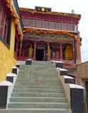 Tempio di Maitreya Buddha, monastero di Thiksay, ladakh di Leh, Kashmir, India Immagine Stock