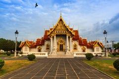 Tempio di marmo a Bangkok Tailandia Fotografia Stock Libera da Diritti