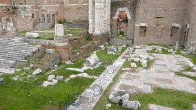 Tempio di Marte Ultore - Fori Romani, Roma, Italy. Video stock video footage