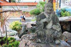 Tempio di menzogne di Wat Pho Buddha a Bangkok, Tailandia - dettagli Fotografia Stock Libera da Diritti