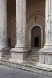 Tempio di minerva и стародедовские руины в Assisi Стоковое фото RF