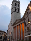 Tempio di Minerva, Assisi (Italia) Royaltyfri Fotografi