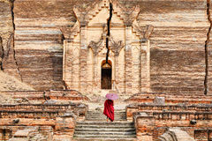 Tempio di Mingun Pahtodawgyi a Mandalay, Myanmar immagine stock libera da diritti