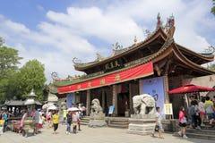 Tempio di Nanputuo alla festa cinese di festa nazionale Fotografia Stock