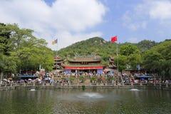 Tempio di Nanputuo alla festa cinese di festa nazionale Immagine Stock Libera da Diritti