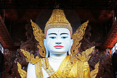 Tempio di Ngahtatgyi Buddha, Rangoon, Myanmar Fotografie Stock Libere da Diritti