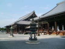Tempio di Nishi Hongan-ji Fotografie Stock Libere da Diritti