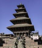 Tempio di Nyatapola, Bhaktapur, Nepal Fotografia Stock
