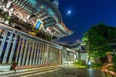 Tempio di Otani Hombyo a Kyoto alla notte, Giappone Fotografia Stock Libera da Diritti