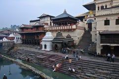 Tempio di Pashupatinath Fotografia Stock