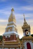Tempio di Phra che Phanom Stupa, strutture buddisti importanti di Theravada nella regione dentro nella provincia di Nakhon Phanom immagine stock libera da diritti