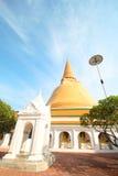 Tempio di PHRA PRATHOM JEDI, la grande pagoda di Thaila Fotografia Stock