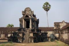 Tempio di pietra a Angkor Wat, Cambogia Immagini Stock Libere da Diritti