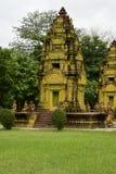 Tempio di pietra artisticamente costruito fotografia stock