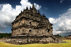 Tempio di Plaosan in Java Indonesia fotografia stock libera da diritti