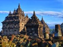 Tempio di Plaosan, Klaten Java Indonesia centrale fotografia stock libera da diritti