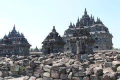 Tempio di Plaosan vicino a Yogyakarta sull'isola Indonesia di Java immagini stock libere da diritti