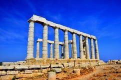 Tempio di Poseidon Fotografie Stock Libere da Diritti