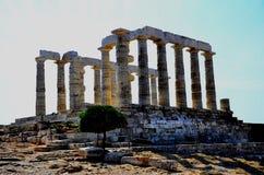 Tempio di Poseidon Fotografia Stock Libera da Diritti