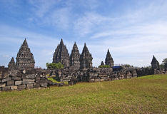 Tempio di Prambanan Immagini Stock