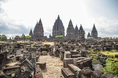 Tempio di Prambanan Fotografie Stock Libere da Diritti