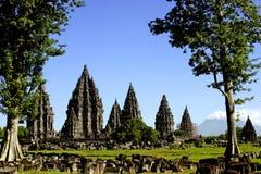 Tempio di Prambanan Fotografia Stock Libera da Diritti
