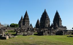 Tempio di Prambanan di Yogyakarta Fotografia Stock