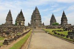 Tempio di Prambanan - il più grande templein indù Indonesia Fotografia Stock Libera da Diritti