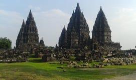 Tempio di Prambanan, Java centrale, Indonesia fotografia stock