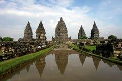 Tempio di Prambanan vicino a Yogyakarta Fotografie Stock Libere da Diritti
